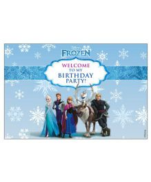 Disney Frozen Welcome Banner - Blue