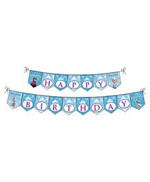 Disney Frozen Happy Birthday Banner - Blue