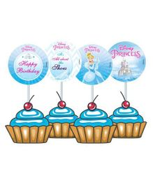 Disney Cinderella Cupcake And Food Toppers - Pack of 10