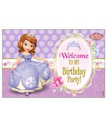 Disney Sofia The First Enchanted Garden Party Welcome Banner - Purple