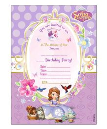 Sofia The First Enchanted Garden Party Invitation Cards