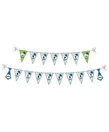 Preetyurparty Little Man Theme Bunting