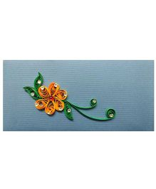 Creative Hand Quilling Shagun Envelopes - Blue