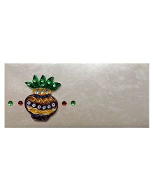 Creative Hand Quilling Shagun Envelopes - White