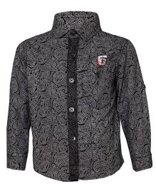 Tales & Stories Paisley Print Black Shirt Boys 4-5 Years Cotton