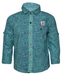 Tales & Stories Full Sleeves Paisley Print Shirt - Green