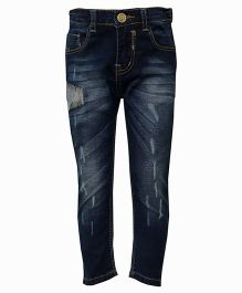 Tales & Stories Full Length Rugged Denim Trousers - Dark Blue