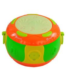 Magic Pitara Musical Flash Drum - Green And Orange