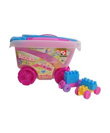 Magic Pitara Trolley Blocks With Trolley Cart Multicolor - 55 Pieces