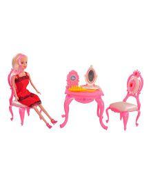 Magic Pitara Dressing Table Set With Doll - Pink