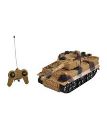 Magic Pitara Remote Control Battle Tank - Brown