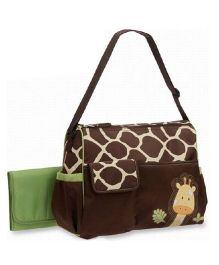 Magic Pitara Diaper Bag With Plastic Sheet - Brown