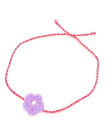 Mi Dulce An'ya Crochet Flower Rakhi - Purple