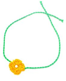 Mi Dulce An'ya Crochet Flower Rakhi - Orange