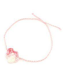 Mi Dulce An'ya Crochet Flower Rakhi - Pink