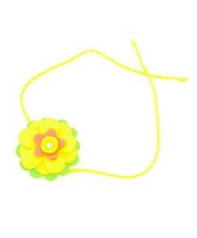 Mi Dulce An'ya Layered Flower Rakhi - Yellow and Green