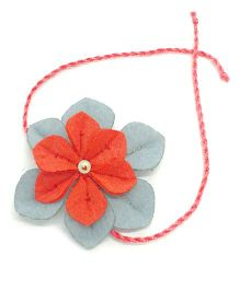 Mi Dulce An'ya Flower Rakhi - Blue and Red