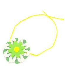 Mi Dulce An'ya Layered Flower Rakhi - White and Green