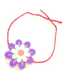 Mi Dulce An'ya Layered Flower Rakhi - White and Purple