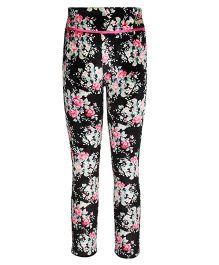 Cutecumber Leggings Floral Print - Black