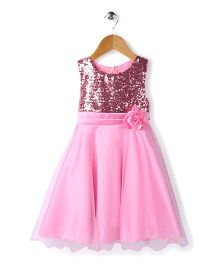 The KidShop Sequined Party Dress - Baby Pink