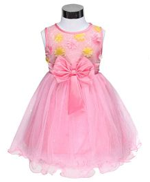 The KidShop Flower & Sequins Dress - Yellow & Pink