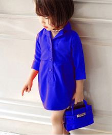 The KidShop Trench Coat Style Dress - Electric Blue