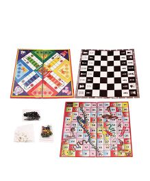 Toycry Ludo Chess Snake And Ladder Board Game (Colors may vary)