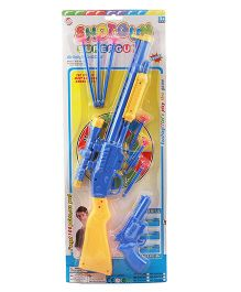 Toycry Guns With Darts And Board (Colors may vary)