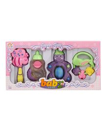 Toycry Baby Rattle Set - 4 Pieces (Colors may vary)