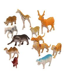 Toycry Animal Miniaure Model - 12 Pieces (Colors may vary)