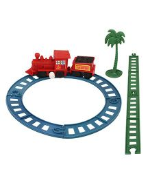 Toycry Friction Train With Track - 8 Pieces (Colors May Vary)