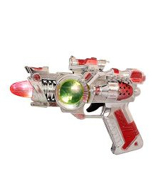 Toycry Gun With Light And Sound - Grey & Red