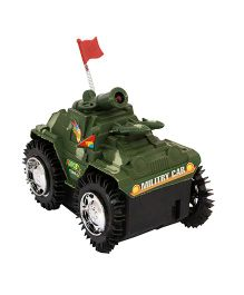 Toycry Military Tank Battery Operated With Light And Sound - Green