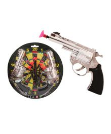 Toycry Dart Guns With Darts And Dartboard (Colors May Vary)