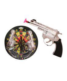 Toycry Dart Guns With Darts And Dartboard (Colors May Vary)