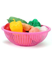 Ratnas Fresh Vegetable Basket Pink - 15 Pieces