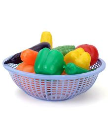 Ratnas Fresh Vegetable Basket Blue - 15 Pieces