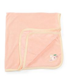 Babyhug Towel Bunny Embroidery - Peach