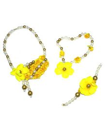 Little Pocket Store Handmade 4 Pc Ethnic Jewellery Set - Yellow