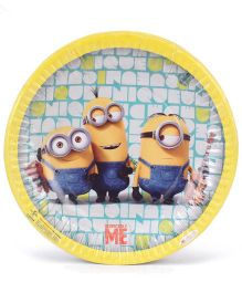 Minions Small Paper Plates Yellow - Pack Of 10