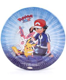 Pokemon Big Paper Plates Blue - Pack Of 10