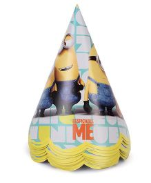 Minions Paper Hats Yellow - 10 Pieces