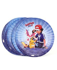 Pokemon Small Paper Plates Yellow - Pack Of 10
