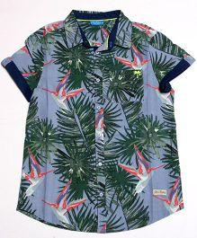 One Friday Casual Hawaiian Print Shirt - Blue
