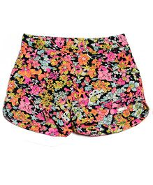 One Friday Flower Printed Short - Multicolour