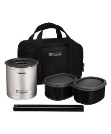 Zojirushi Lunch Box - Matte Silver