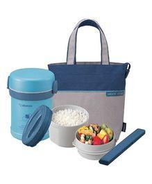 Zojirushi Vacuum Lunch Jar - Aqua Blue