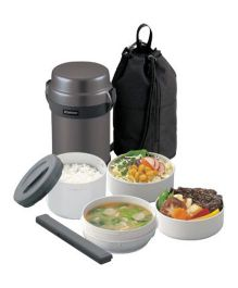 Zojirushi Vacuum Lunch Jar - Gun Metallic
