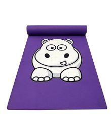 Gravolite Baby Hippo Printed Kids Fun Mat - Purple